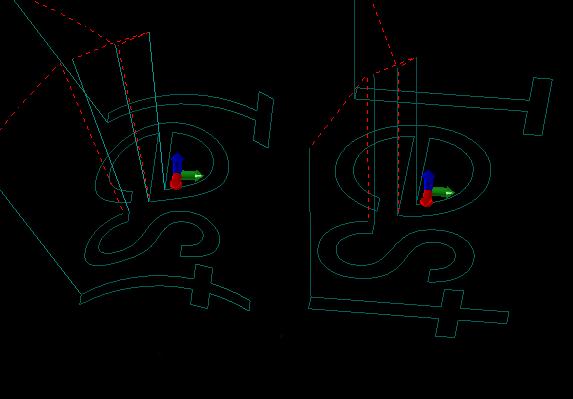 Koordinaten der Ttrommelgravur - Von flach nach rund